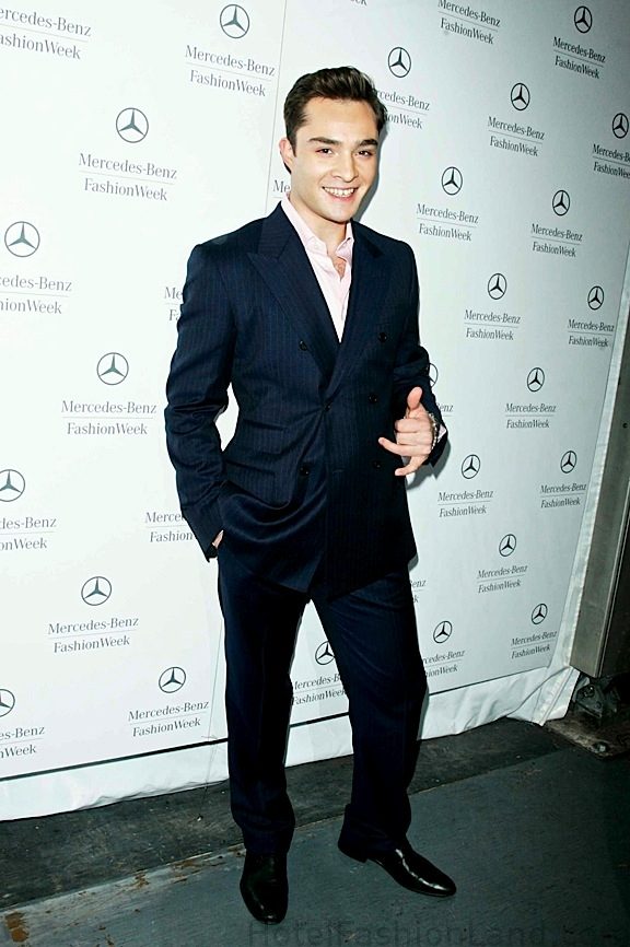 Ed Westwick arriving at Tommy 2010