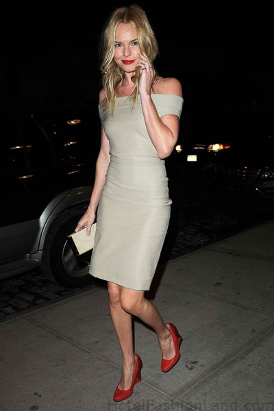Kate Bossworth arriving at the CK after party