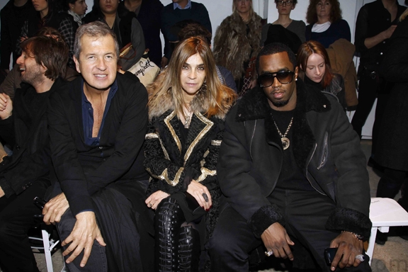 Mario Testino, Carine Rotfeld and Sean Combs