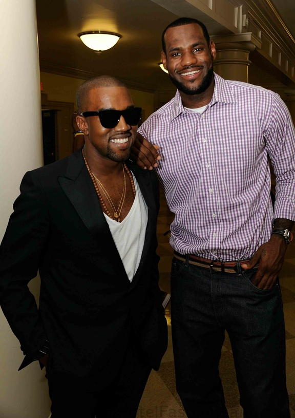 KAYNE WEST and LEBRON JAMES