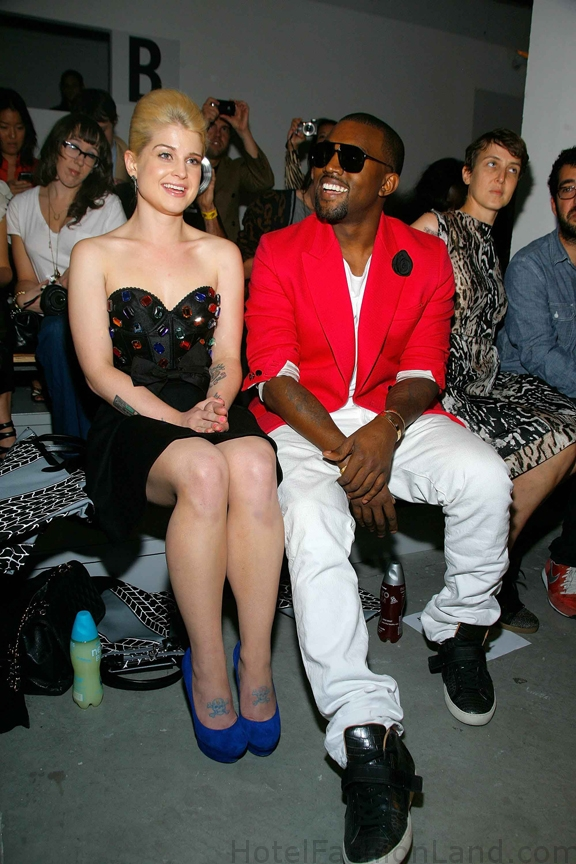 KAYNE WEST and KELLY OSBOURNE at JEREMY SCOTT Spring 2011