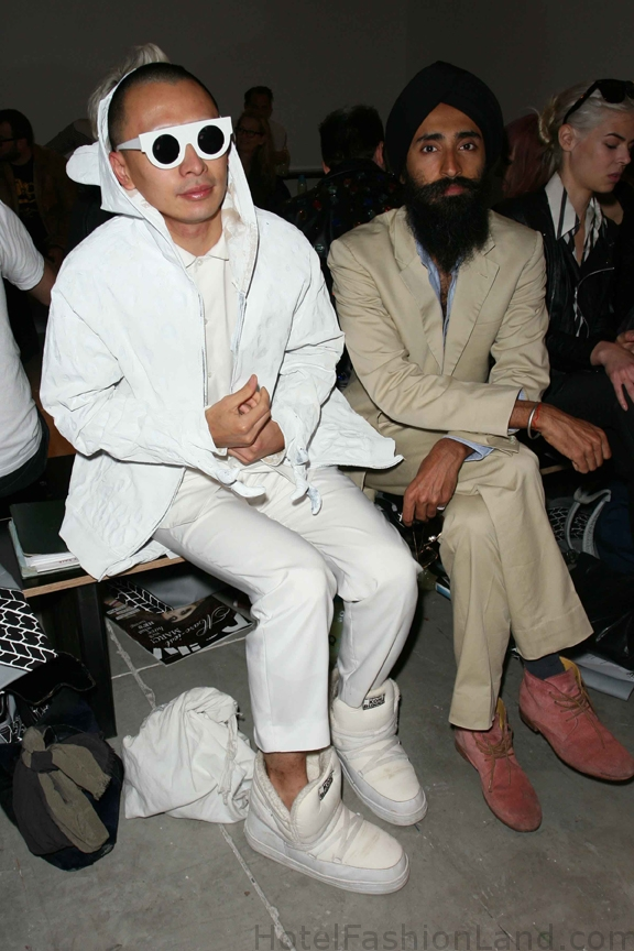 Terrence Koh and Waris at Jeremy Scott Spring 2011