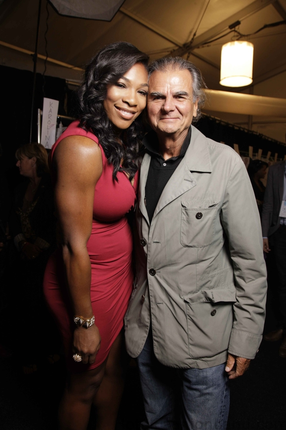 Serena Williams with Michael Kors at Jaeremy Scott Spring 2011