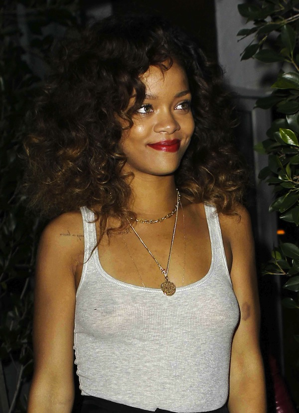 Rihanna See through Tank Top