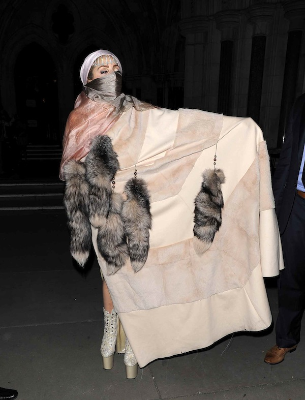 Lady Gaga at London Fashion Week 2012